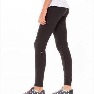Ivivva Girls' Black Rhythmic Tight Leggings 10